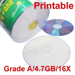 Wholesale Dvd Burn - Grade A 4.7GB 16X DVD R Printable Blank Record DVD Disc DVD-R CD Burning for VCR Camera Video High quality DHL Free Fast Shipping