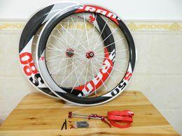 Wholesale Sram Clincher Wheels - 50mm+88mm Sram S80 s50 Alloy Wheelsets 50mm Carbon Road Bicycle Wheels 700C Wheels Clincher Bike Wheel Set