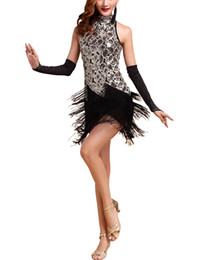 Wholesale Girls Dance Patterns - Women roaring 20s 1920S Art Deco Sequin Paisley Great Gatsby Flapper Dance Girl Tassel Glam Party Dress Costume Pattern Style