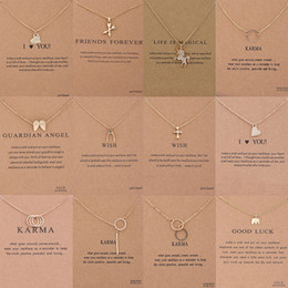 Wholesale 18k White Gold Pearl Wholesale - Chokers Dogeared Choker Necklaces With Card 12 Styles Pendant Necklace 2 Colors New Fashion Jewelry For Women
