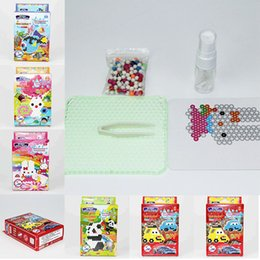 Wholesale Designer Templates - AquaBeads Designer Template Sheets Arts and Crafts Water Sticky Perler Beads Puzzle Set Fuse Beads Water Beadbond Educational Diy Toys for