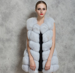 Wholesale Long White Mink Fur Coat - Europe and the United States autumn and winter new fur coat imitation fur fox fur vest water mink coats
