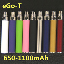 Wholesale Mt3 Electronic Cigarette Atomizer Ego - Electronic Cigarettes Ego-t Battery 650mAh 900mAh 1100mAh e Cigarette Battery For Vaporizer Ce4 MT3 Replaceable Oil Cartridges Atomizer