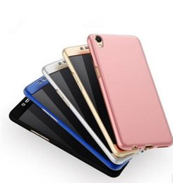 Wholesale Oppo Battery - Oppo R9 mobile phone shell 360 full frosted R9s protective sleeve R9plus thin shell PC men and women fall