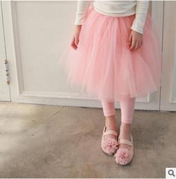 Wholesale Girls Tutu Tights - Girls leggings spring autumn new children lace tulle tutu skirt pants kids all-macth leggings girls princess skirt pants kids bottom T0993