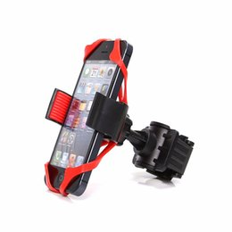 Wholesale motorcycle iphone holders - Universal Bike Bicycle Motorcycle Handlebar Mount Holder Phone Holder With Silicone Support Band For Iphone 6 7 plus Samsung s7 s8 edge