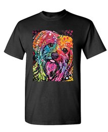 Wholesale Black Artist Prints - YORKIE - Dean Russo pocket dog art artist 2017 Adult new High Quality 100% Cotton men's T Shirt cheap sell Free shipping