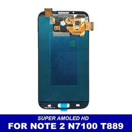 Wholesale Galaxy Note Digitizer I317 - Super AMOLED HD LCD Display For Samsung Galaxy Note 2 Note2 N7100 N7105 T889 i317 i605 L900 Genuine Touch Screen Digitizer Assembly 100% Tes