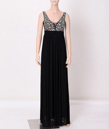 Wholesale Red Mesh Cocktail Dress - Wholesale Women's Sexy Deep V-neck Long Mesh Beading Sleeveless O-neck Evening Formal Party Ball Gown Cocktail Bridesmaid Mermaid Maxi Dress