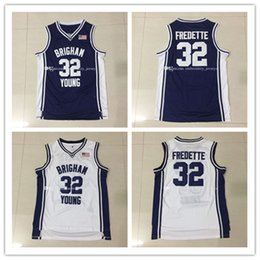 Wholesale Top quality YBU Jimmer Fredette Basketball Jersey Men Sports wear embroidered Logos Cheap sports shirts