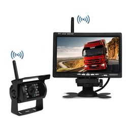 Wholesale Wireless Rearview Camera Systems - car truck wireless rearview camera intelligent parking assistance system PZ607W 7 inch 16:9 digital panel Camera Pixal 648*488 Free post
