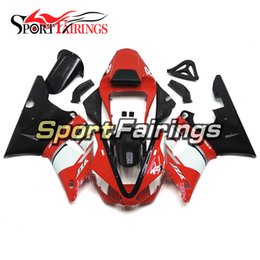 Wholesale Yamaha R1 Red White - Complete Injection Red White Black New Fairings For Yamaha YZF1000 R1 00 01 2000 2001 Injection ABS Fairings Motorcycle Bodywork Cowling