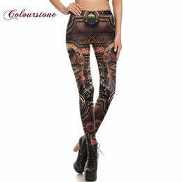 Wholesale Sexy High Leggings - COLOURSTONE Wholesale NEW Women Pant Legins Steampunk Gothic Comic Cosplay Trousers Sexy high waist leggings punk rock jeggings Pants Famme