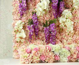 Wholesale Silk Hydrangea Flowers Bushes - One Piece 29 CM Long European Style Silk Artificial Hydrangea Flower Fake Flower Bush Silk Single Touch For Wedding Bouquet Home Decoration