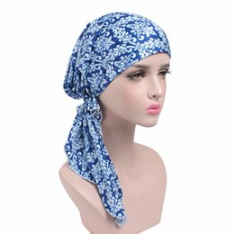Wholesale Holiday Crochet Hat - New wild elastic cloth print scarf cap scarf hat chemotherapy hat