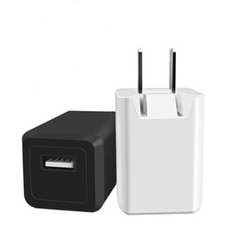 Wholesale Direct Factory Sale - Factory direct sale 5 v 1 a fold-down charger pure copper feet usb charger android smartphone head fast delivery