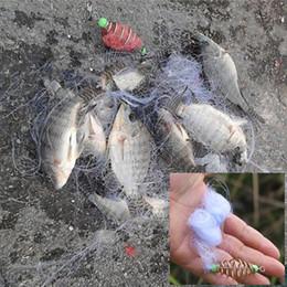 Wholesale Copper Lures - New Design Copper Spring Shoal Fishing Net Netting Luminous beads Swivel lure hooks fishing tackle