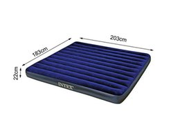 Wholesale Air Beds Mattresses - Wholesale-Hot sales INTEX double super size air mattress 68755 inflatable bed,camping mattress 183*203*22CM