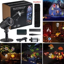 Wholesale Projectors Lights - New LED Projector Light 14 Pattern Waterproof Landscape Lighting Indoor Wall Spotlight Laser Projection Lamp Halloween Christmas Fairy Light