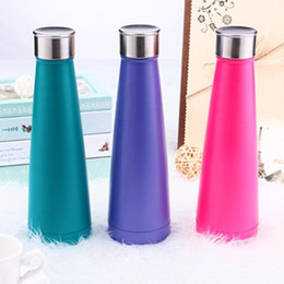 Wholesale Customized Stainless Steel Water Bottles - 10Colors Water bottle Vacuum Cup Coke bottle 15oz which enable creative 304 stainless steel vacuum keep-warm glass cup customized logo 450ml