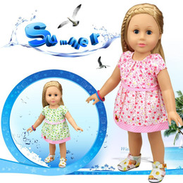 Wholesale Best Western Gift - 18 inch American Girl Doll Clothes Fashion One piece Dress Doll Accessories Best Gift for Girls