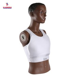 Wholesale Karate Martial Arts - Wholesale- Protection Corsetry Wkf Approved Women Karate Chest Protector Boxing Chest Guard For Martial Art Competition And Trainning