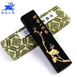 Wholesale Wholesale Chinese Writing Calligraphy - Wholesale- Bgln 1Piece Chinese Traditional Calligraphy Pine-soot Ink Stick For Writing Brush Painting Calligraphy Solid Ink Stick MS005