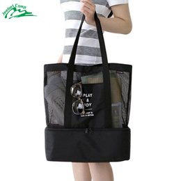 Wholesale Lunch Bag Backpack - Wholesale- Jeebel Multi-function picnic basket outdoor sports lunch backpack bag Thermal Women Men Storage Cosmetics LargePortable camping