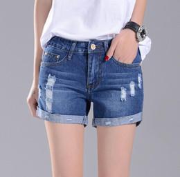 Nueva llegada Verano nuevos pantalones cortos de mezclilla mujer recto recto agujero de ráfaga pantalones con pantalones JW052 Jeans de mujer desde fabricantes