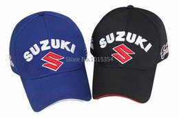 Wholesale Suzuki Caps - Wholesale- Wholesale New style Car Racing Logo for Suzuki Outdoor Baseball Cap Auto Racing embroidery baseball cap hat Rated 5.0  5 based o