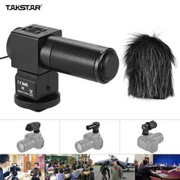 Wholesale Microphone Camcorder - TAKSTAR SGC-698 Photography Interview Recording Microphones MIC for Nikon Canon Camera DSLR DV Camcorder