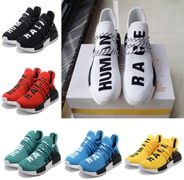 Wholesale Human Trainer - Original NMD Human Race Runner Boost Pharrell's Runners Trainers NMD Boost running Shoes, Hu race Williams Pharrell x White,Red, Eur 36-45