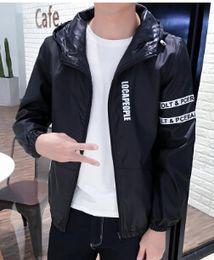 Wholesale Thin Breathable Coat - Men Spring Windbreaker Jackets Thin Hooded Long Sleeved Light Breathable Waterproof Men's Sun Jacket Clothing Coats