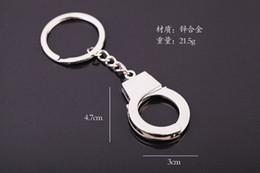 Wholesale Mini Handcuffs - 2017 New Hot 1pcs Keyring Key Chain Creative Art Handcuffs Mini Version Funny gift Free Shipping
