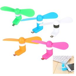 Wholesale Green Usb Mini Fan - 5Pin Micro USB Fan Portable Flexible Cooling Fan Mini Super Mute USB Cooler For Android phone USB Adapter Free Shipping