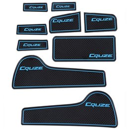 Wholesale Door Carpets - 1Set 9Pcs Anti Slip Sticker Mat Gate Slot Pad Door Carpets Interior Decoration for Chevrolet Cruze Sedan Hatchback 2009-2014 Hot
