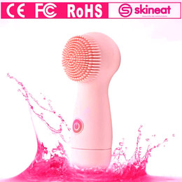 Wholesale Free Cleaners - Skineat Face Cleaning Brush Electric Facial Cleanser Skin Care Tools With CE FC RoHS Certificate Free DHL