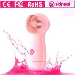 brosse électrique pour nettoyer le visage Promotion Outils faciaux électriques de soin de peau de brosse de nettoyage de visage de Skineat de visage avec le certificat de FC RoHS de la CE LIBRE DHL