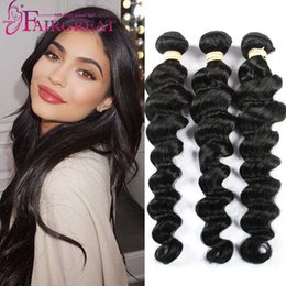 Wholesale Cheap Loose Wave Weave - 8-28 inch Brazilian Loose Wave Human Hair Weaves 100% Uprocessed Brazilian Human Hair Extension 3pcs lot Brazilian Human Hair Products Cheap