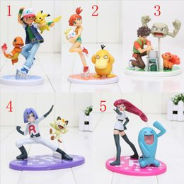 Wholesale Charmander Figure - 10cm Ash Ketchum Pikachu Charmander Misty Kasumi Psyduck Togepi Cartoon Toy Action Figure Model Gift 2 style