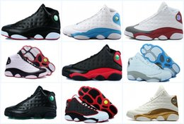 Wholesale Rhinestones Best Price - 2017 New Mens womens Basketball Shoes Air Retro 13 Bred Black True Red Discount Sports Shoe Athletic Running shoes Best price Sneakers