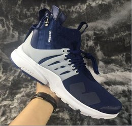 Wholesale Cheap Cargos - 2017 Acronym Air Presto Mid Running Shoes,Discount Cheap Sneaker Trainers Sportswear,Black-bamboo Lava olive cargo green Sports Running Shoe
