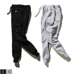 Wholesale Wide Leg Corduroys - Solid foot youth trousers no elastic autumn plus size velvet thickening Youth Popular with flannelette cotton casual pants