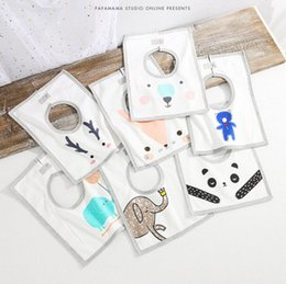 Wholesale Baby Cloth Bear - INS Newborn bib burp infant cute antlers fox bear panda cotton saliva towels burps cloths baby cartoon animal printed turban R0065