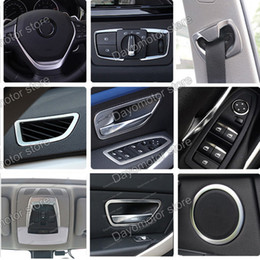 Wholesale Bmw Series Accessories - Car Styling ABS Steering wheel Cover Decoration Trim Accessories For BMW 3 4 Series F30 F31 F32 F34 GT 320 328 chrome Stick