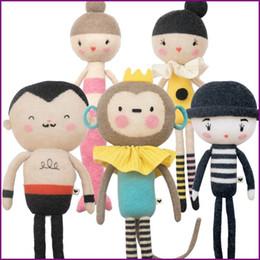 giocattoli a maglia all'ingrosso Sconti All'ingrosso-NUOVI giocattoli fatti a mano all'uncinetto casa Cuscino bambola sirena Carino animali morbidi placche per bambini bambini che dormono giocattoli bambola scimmia regali ragazza