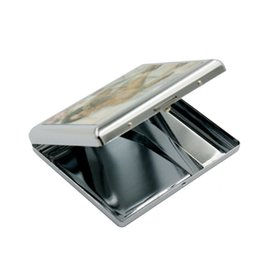 Wholesale Cheap Cigarettes Cases - free shipping USA Russia isreal aluminium alloy 3D 20pcs tobacco cigarette box case cigarette cases metal storage case container cheap price