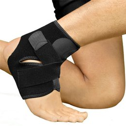 Wholesale Elastic Brace Guard Support Sports - Wholesale- 1PC Safety Ankle Support Gym Running Protection Black Foot Bandage Elastic Ankle Brace Band Guard Sport Tobilleras Deportivas