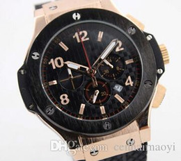 Wholesale Titanium Watches Modern - Luxury Brand watch men big bang rubber band Watch men quartz chronograph watch Mens dive Watches