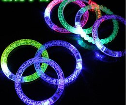 UK flash led china - Free ship LED bracelet light up flashing Glowing bracelet Blinking Crystal bracelet Party Disco Christmas Gift
